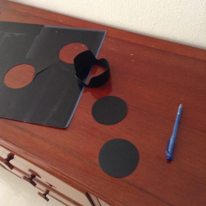 DIY Solar Camera Filter made from xray film