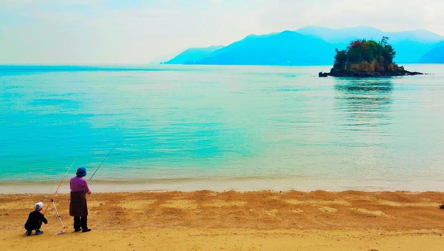 Fishing in the Seto Inland Sea, Japan