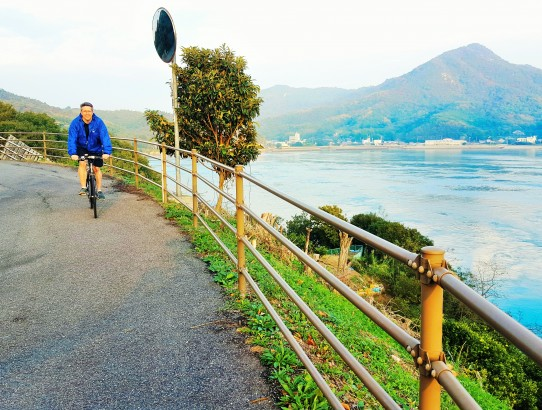 Cycling over the Seto Inland Sea on the Shimanami Kaido Bike Trail