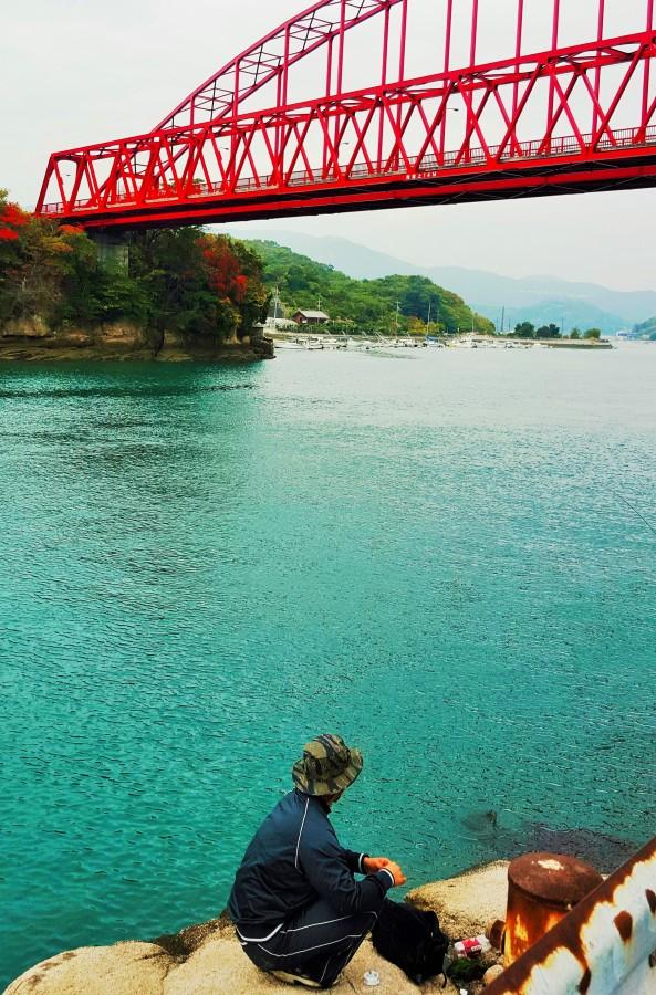 Bridge on Mukaishima Island, Japan