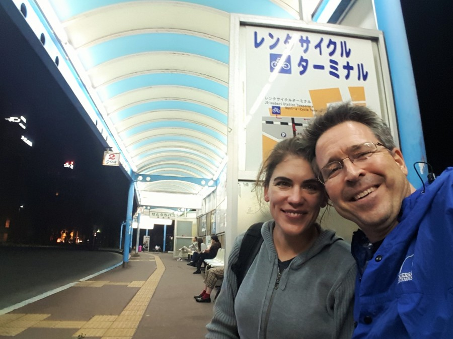 Catching the last bus from Imabari, Japan!