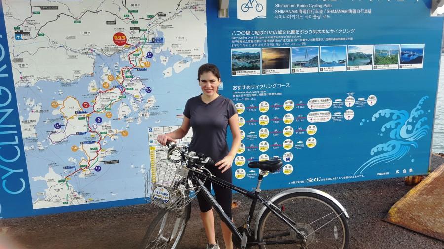 Onomichi Trailhead at ferry for Shimanami Kaido Trail, Japan