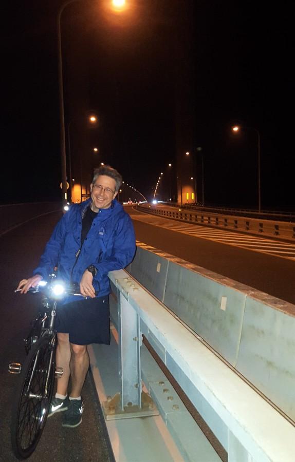 Stop along the last and longest bridge before Imabari, Japan