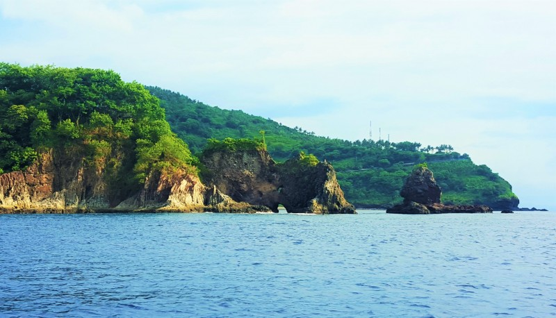 View of Lombok Coastline from Sea.Nusa Tenggara Indonesia