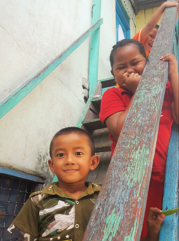 Children greeting us on our bi-weekly ridge walk, Balikpapan, Indonesia