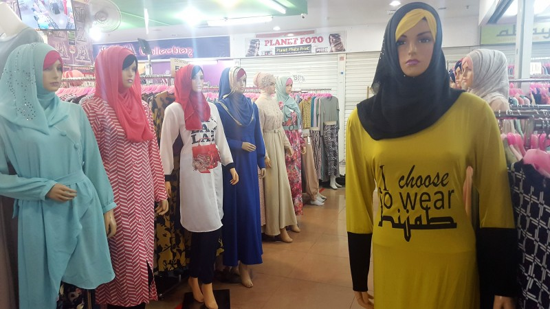 HIjab Fashions at Hypermart Plaza in Balikpapan, Borneo Indonesia