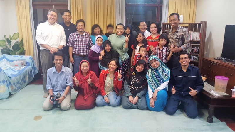 Group photo after sharing Iftar in Balikpapan, Indonesia
