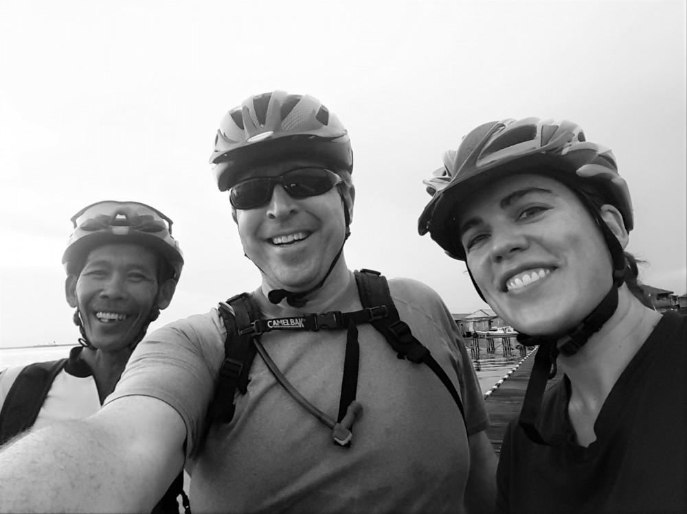 Pak Yayan, Sam and me at Kampung Baru, Balikpapan, Indonesia