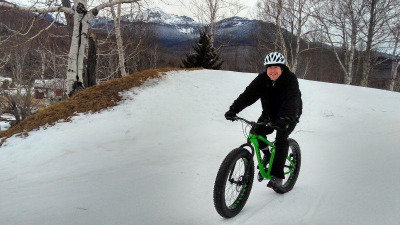 Fat biking at Great Glen Trails, Gorham NH