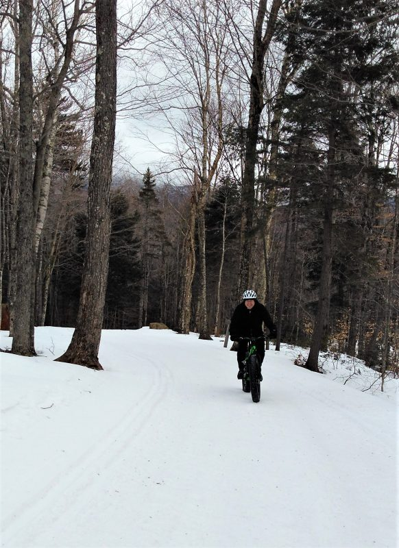 Beautiful wooded trails at Great Glen for cycling or cross country skiing
