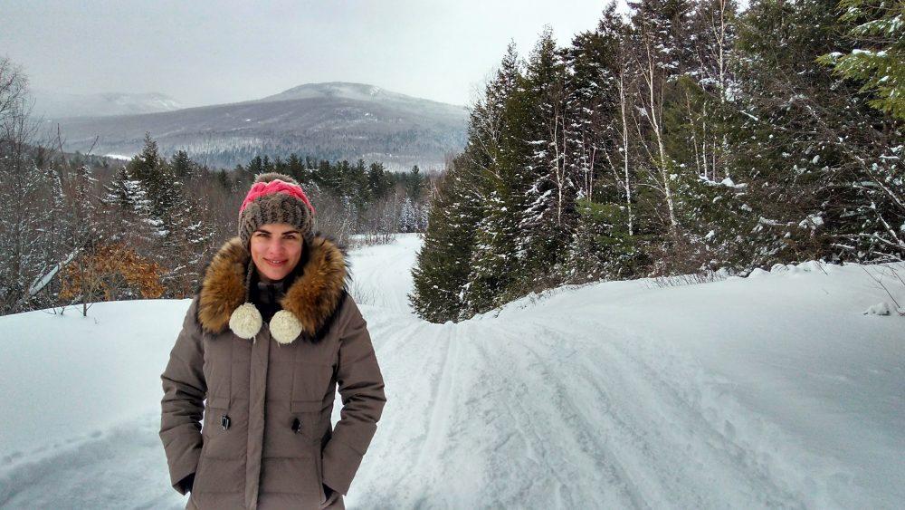 Snowshoeing along Corridor 19, NH.2