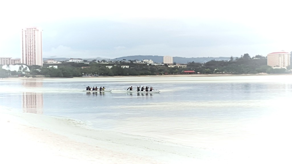 Canoeing along Tumon Bay in Early Morning, Guam