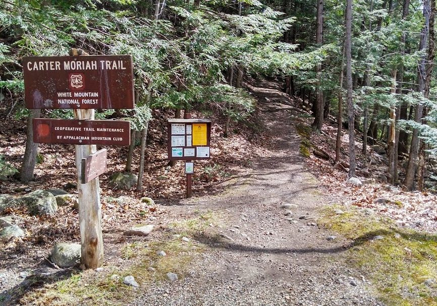 Mt Moriah and Mt Surprise Trailhead, Gorham NH