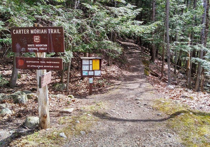 Mt Moriah and Mt Surprise Trailhead, Gorham NH
