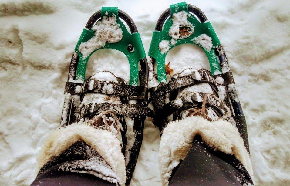 Snow shoeing in Gorham, NH